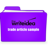 Click for: Newsletter article writing sample